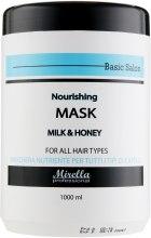 Духи, Парфюмерия, косметика Питательная маска для волос с молоком и медом - Mirella Professional