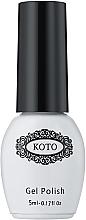 Духи, Парфюмерия, косметика Финишное покрытие для гель-лака, без липкого слоя - Koto Top Coat No Wipe