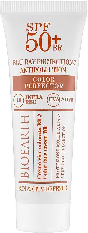 """Солнцезащитный крем для лица """"Classic"""" SPF50 - Bioearth Color Face Cream BR"""