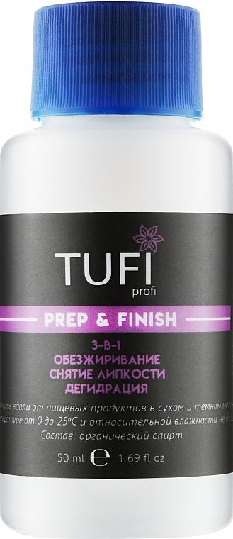 Жидкость для обезжиривания, снятия липкого слоя, дегидрации с помпой - Tufi Profi Prep & Finish