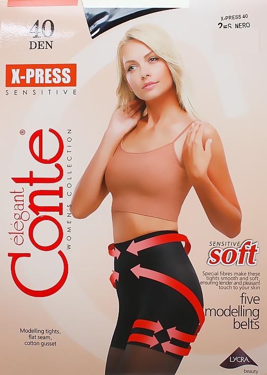 """Колготки """"X-press"""" 40 Den, nero - Conte"""