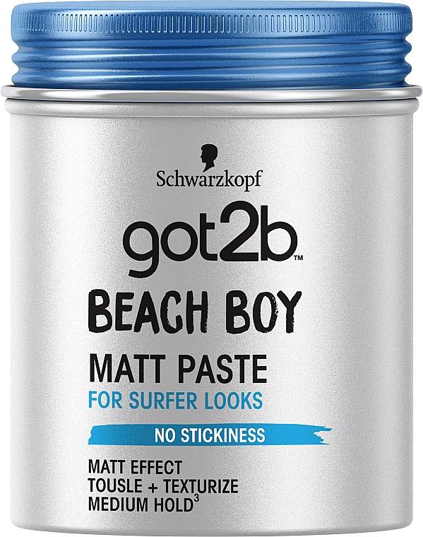 Паста матирующая для волос, фиксация 3 - Got2b Beach Boy Matt Paste