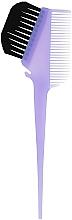 Духи, Парфюмерия, косметика Кисточка для окрашивания волос с расческой, сиреневая - Comair