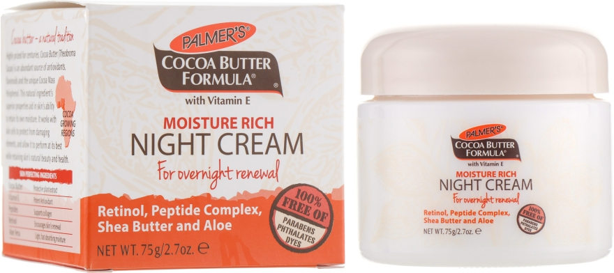 Ночной крем для лица - Palmer's Cocoa Butter Formula Moisture Rich Night Cream