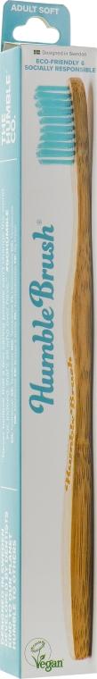 Зубная щетка, мягкая, голубая - The Humble Co.