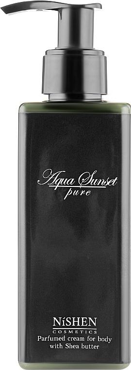 """Парфюмированный крем для тела """"Aqua Sunset"""" - Nishen Aqua Sunset Parfumed Cream For Body With Shea Butter"""