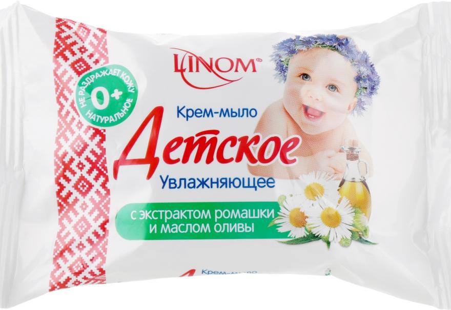 """Крем-мыло """"Детское"""" увлажняющее с маслом оливы и экстрактом ромашки - Linom"""