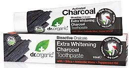 Духи, Парфюмерия, косметика Зубная паста с активным углем - Dr. Organic Extra Whitening Charcoal Toothpaste