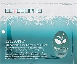 Духи, Парфюмерия, косметика Тканевая маска для лица - Estesophy Marvelous Sheet Green Tea Mask