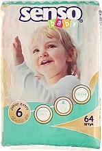 Духи, Парфюмерия, косметика Подгузники Junior Extra 6 (15-30 кг), 64 шт - Senso Baby