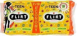 """Духи, Парфюмерия, косметика Гигиенические прокладки """"Teen Fresh Ultra Light"""" Cotton & Care, 3 капельки, 20шт - Fantasy Flirt"""