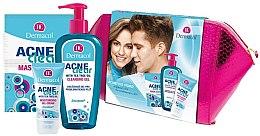 Духи, Парфюмерия, косметика Набор - Dermacol Acne Clear (clean/gel/200ml + gel/cr/50ml + f/mask/2x8ml)