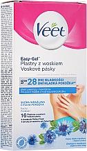 Духи, Парфюмерия, косметика Восковые полоски для депиляции подмышек для чувствительной кожи - Veet Easy-Gel