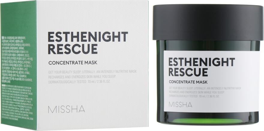 Питательная концентрированная ночная маска для лица - Missha Esthenight Rescue Concentrate Mask
