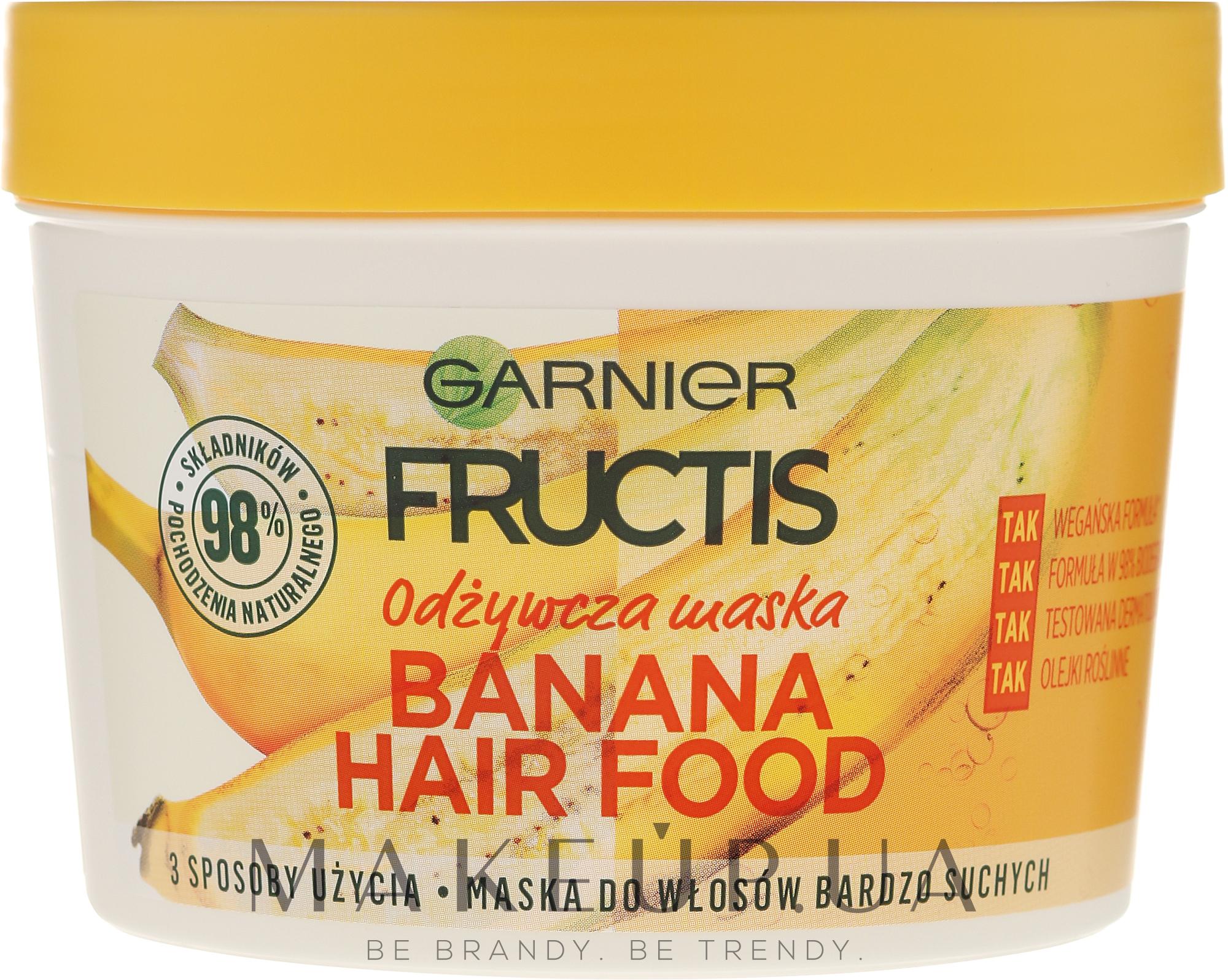 """Маска 3 в 1 """"Банан"""", питание для сухих и очень сухих волос - Garnier Fructis Superfood Mask — фото 390ml"""
