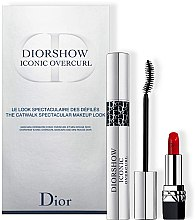 Духи, Парфюмерия, косметика Набор - Dior Diorshow Iconic Overcurl Gift Set (mascara/10ml+lip/stick/1.5g)