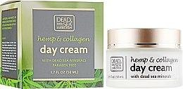 Парфумерія, косметика Денний крем з екстрактом конопель, колагеном і мінералами Мертвого моря - Dead Sea Collection Hemp & Collagen Day Cream