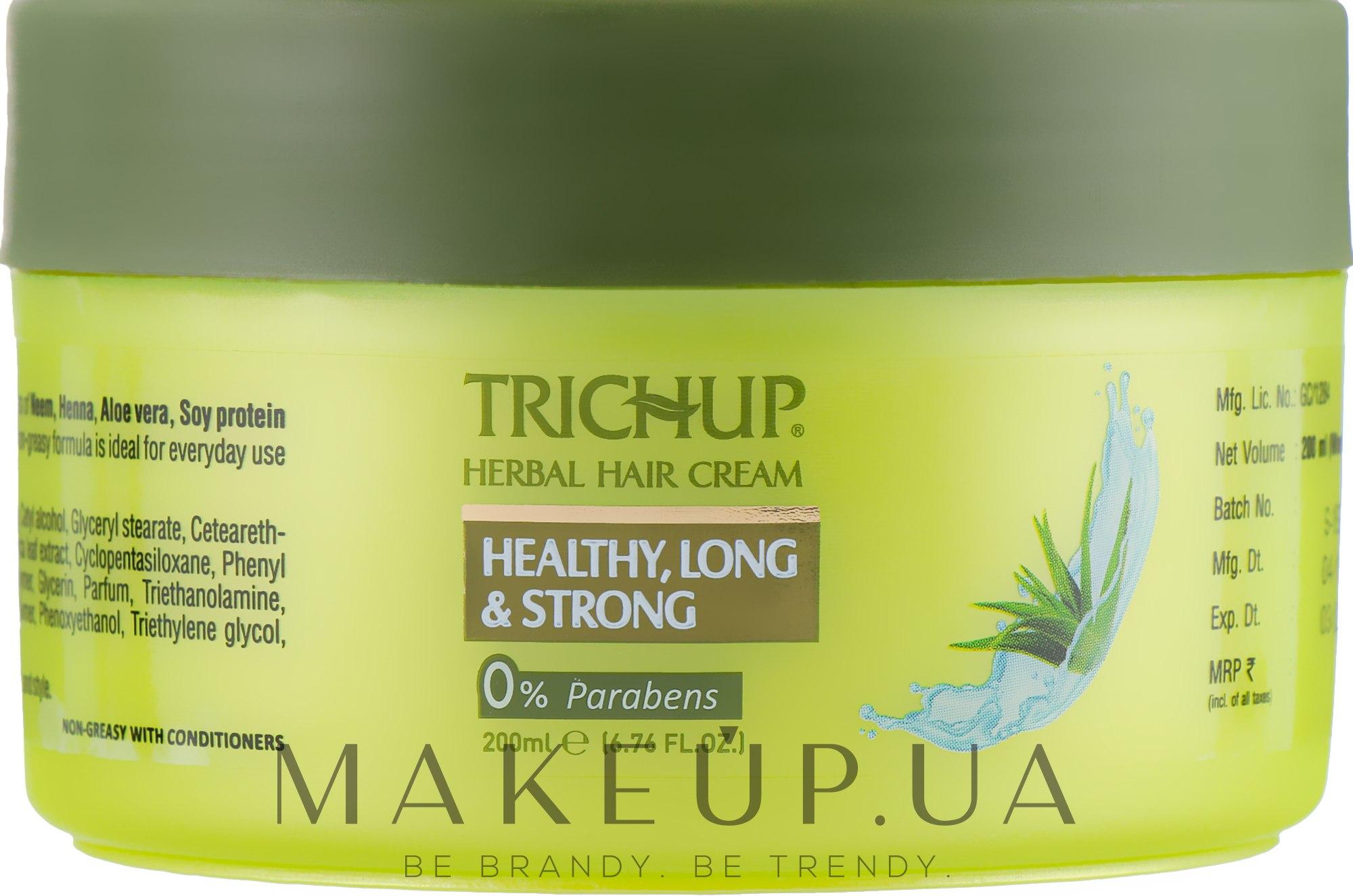Крем для здоровых, длинных и крепких волос - Vasu Trichup Healthy Long & Strong  — фото 500ml