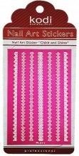 Духи, Парфюмерия, косметика Наклейка для дизайна ногтей - Kodi Professional Nail Art Stickers FL0011