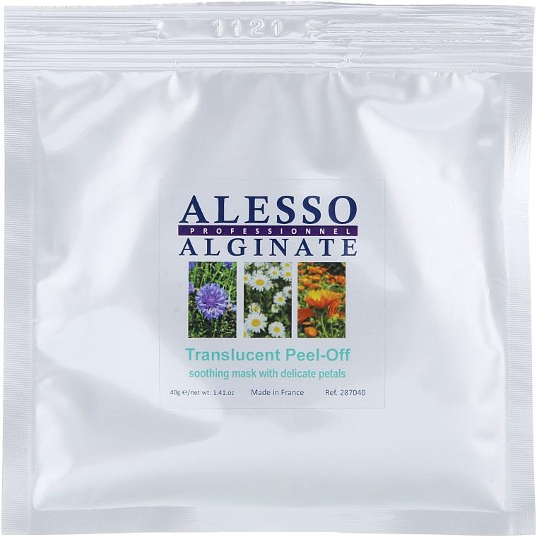 Маска для лица альгинатная успокаивающая с нежными лепестками - Alesso Professionnel Translucent Alginate Peel-Off Face Mask With Delicate Petals