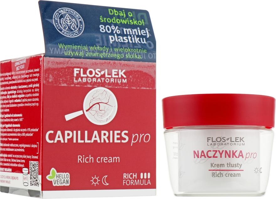 Обогащенный крем для сосудистой кожи - Floslek Dilated Capillaries Rich Cream