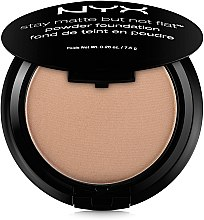 Пудра для лица - NYX Professional Makeup Stay Matte But Not Flat Powder Foundation — фото N1