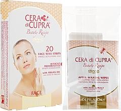 Духи, Парфюмерия, косметика Полоски для депиляции лица для чувствительной кожи - Cera di Cupra