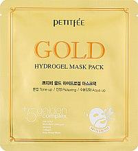 Парфумерія, косметика Гідрогелева маска для обличчя з золотим комплексом +5 - Petitfee Gold Hydrogel Mask Pack +5 golden complex