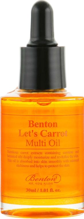 Мультифункциональная сыворотка с маслом семян моркови - Benton Let's Carrot Multi Oil — фото N2