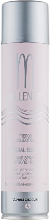 Лак для ослабленных волос сильной фиксации с натуральным экстрактом ромашки - Millenium French Collection Millenium Hair Spray
