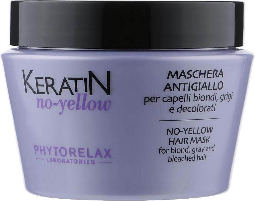 Антижелтая маска для светлых волос - Phytorelax Laboratories Keratin No-Yellow Hair Mask