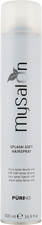 Мягкий лак для волос - Puring MySalon Splash Soft Hairspray