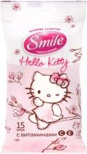 """Духи, Парфюмерия, косметика Влажные салфетки """"Hello Kitty"""" 15шт, розовые - Smile Ukraine Hello Kitty"""