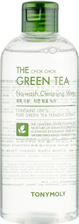 Очищающая вода для лица - Tony Moly The Chok Chok Green Tea No-Wash Cleansing Water
