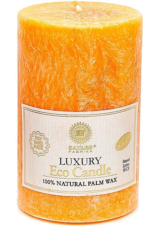 Свеча из пальмового воска, 12.5 см, оранжевая - Saules Fabrika Luxury Eco Candle