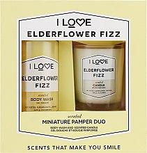 Духи, Парфюмерия, косметика Набор - I Love Elderflower Fizz (candle/50g + b/wash/100ml)
