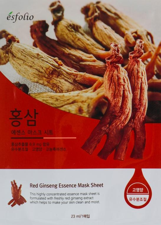"""Тканевая маска """"Экстракт женьшеня"""" - Esfolio Essence Mask Sheet"""