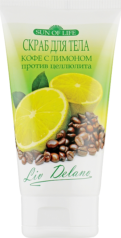 """Скраб для тела """"Кофе с лимоном"""" - Liv Delano Sun of life — фото N1"""