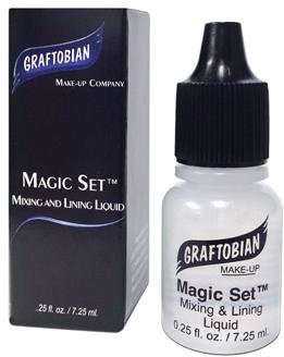Жидкость для водостойкого и длительного эффекта макияжа и красок - Graftobian Magic Set Mix & Lining (мини)