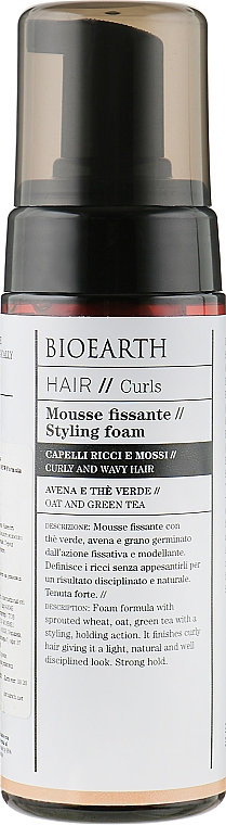 Пенка для укладки волнистых волос - Bioearth Hair Styling Mousse