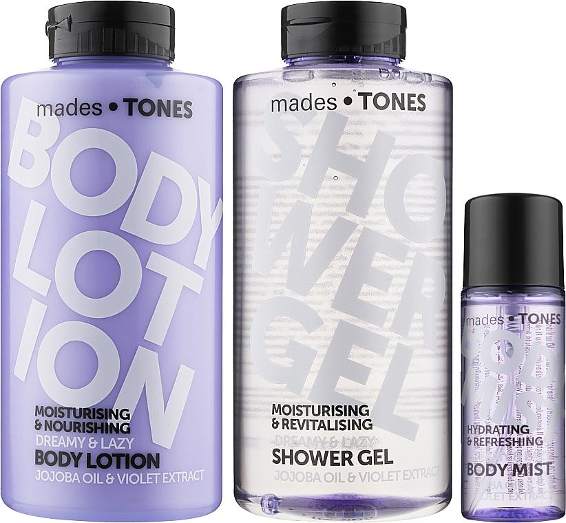 Набор - Mades Cosmetics Tones (b/mist/50ml + sh/gel/500ml + lot/500ml)