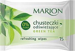 "Духи, Парфюмерия, косметика Освежающие салфетки ""Green Tea"", 15шт - Marion"