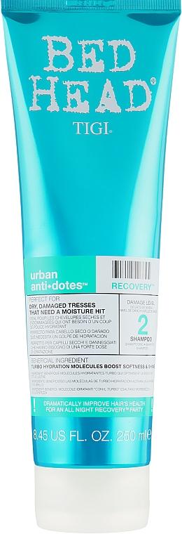 Шампунь увлажняющий для сухих и поврежденных волос - Tigi Bed Head Urban Anti+Dotes Recovery Shampoo