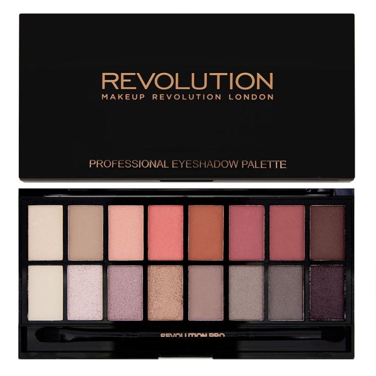 Палетка теней для век, 16 оттенков - Makeup Revolution Palette New-trals vs Neutrals