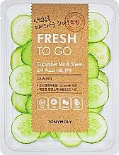 Духи, Парфюмерия, косметика Освежающая тканевая маска с огурцом - Tony Moly Fresh To Go Mask Sheet Cucumber