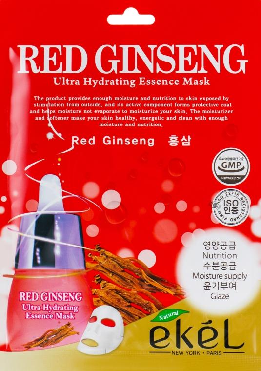 Тканевая маска с экстрактом красного женьшеня - Ekel Red Ging Seng