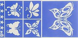 """Духи, Парфюмерия, косметика Трафарет """"Бабочки"""" H8 - Ritrama Spa Body Art"""