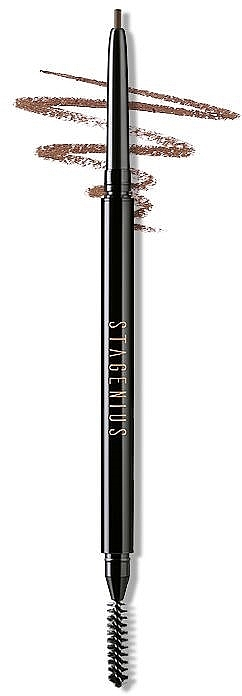 Карандаш для бровей с круглым наконечником - Stagenius Superfine Eyebrow Pencil