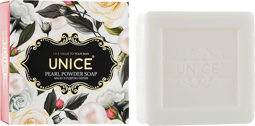 Натуральное мыло с жемчужной пудрой - Unice Pearl Powder Soap