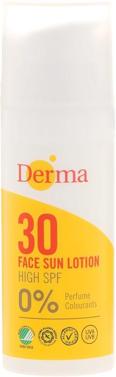 Солнцезащитный лосьон для лица - Derma Sun Face Cream SPF30 High